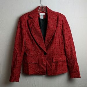 Worthington size 8 red Tweed Blazer
